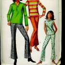 Simplicity Sewing Pattern 6640 overblouse bell bottom pants Miss size 12 Bust 32 No. 86