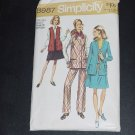 Jacket Vest Skirt Pants Vintage Simplicity Pattern 8987 half size 14 1/2 Bust 37 Waist 30 No. 88