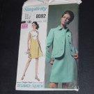 Vintage pattern Womens Dress Jacket 1969 pattern Simplicity 8092 Size 12 No. 88