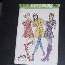 Mini dress short shorts Simplicity sewing pattern 9544 uncut Pattern  No. 116