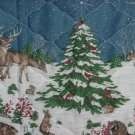 Winter placemats print quilted A Wildlife Christmas place mats Cranston Print Works Co. No.  88