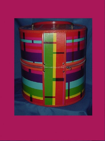 vintage hat Box Wig Box Colorful Luggage Storage hat box