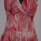 Vassarette Swimsuit Red white one piece Size 36D swim suit  No. 88