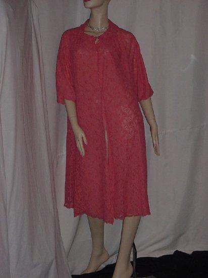 Gossard Artemis Vintage  Lace melon lace and nylon Robe