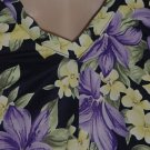 Elizabeth by Liz Claiborne Swimsuit 20W purple lavender yellow ivory one piece swim suit No. 93