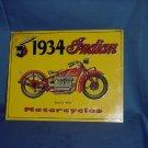 1934 Indian Motorcycles series 402 metal advertising Metal Sign  #91
