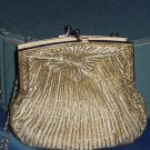 La Regale clutch vintage purse gold bead design No. 91