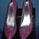 Womens Heels raspberry fuchsia Glitter high heel pumps shoes  No. 37