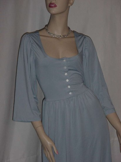 Nite Sweats Blue button front nightwear nightgown lounge wear  2XL #96