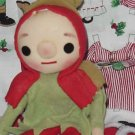 Elf Christmas sitting Elf Vintage pixie #99