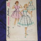Simplicity Vintage Dress Sewing Pattern 1643 Girls Size 8 Bust 34 1950s No. 99