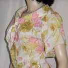 Cay Artley Vintage dress summer dress Floral crepe dress Bust 44  No. 97