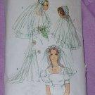 Bridal Veil pattern Simplicity 9826 Bridal headpieces No. 101a