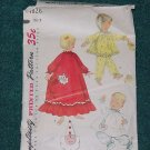 Simplicity Vintage Sewing Pattern 1826 Toddler nightgown pajamas booties size 2 cut No. 101a