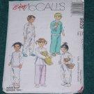 Toddlers Pajamas Pattern McCall's 9629 Cut One piece pajama Size CC 2,3,4 No. 101a