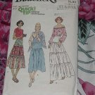 Misses Butterick 5976 vintage sewing pattern skirt Size 30  No. 101a