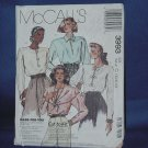 McCall's 3993 blouse cut Pattern Size 10-14  No. 103a