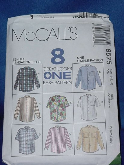 McCall's 8575 blouse shirts Uncut Pattern Size 42-48  No. 103a