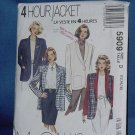 McCall's 5909 4 hour Jacket  Uncut Pattern Size 12-16  No. 103a