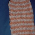 Smocked fabric Two pieces orange white smocked gingham  no. 103a