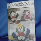Simplicity Sewing Pattern uncut clown pillow pattern 8469 No. 105