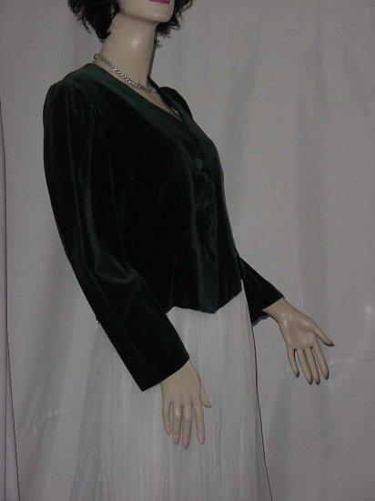 Forest Green Velvet jacket short cropped jacket No. 109