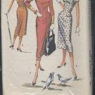 vintage dress pattern McCall's Pattern 3713 previously cut 1956 pattern  No. 129