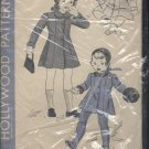 Child's Coat Hollywood Patterns Vintage Sewing Pattern coat leggings bonnet 745 6 years cut No. 122