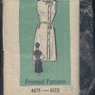 Printed Pattern vintage Sewing Pattern 4675 size 14 1/2 pattern no. 122 Uncut