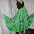 Vintage Green Full skirt floor length bohemian circle skirt No. 110