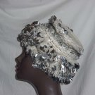 Silver Bangles crocheted hat Vintage variation of pillbox  No. 110
