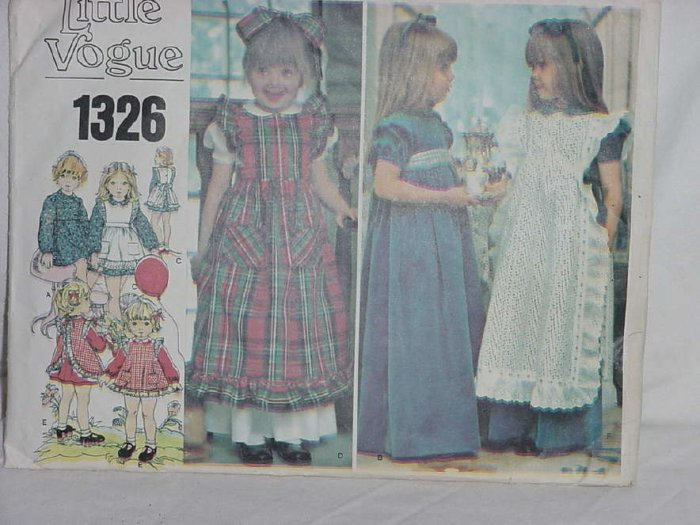 Vogue Little Vogue 1326 dress Cut sewing pattern Child Girls size 6  No. 113