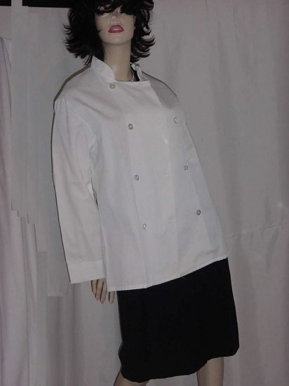 Chef's jacket white double breast chef coat or jacket