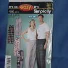 Uncut womens mens pants Simplicity Pattern 4330  Size A S-XXXL  No. 111