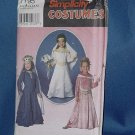 Simplicity Pattern 7795 Princess costume patterns Size A 3,4,5,6,7,8 No. 111