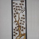 Apple Blossom Floral Metal decorative wall sculpture Hollywood Regency wall plaque metallic art