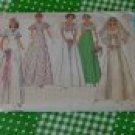 Simplicity 6940  Size 8 Bust 31 1/2 Misses Bridal Bridesmaid Prom Dress 1975  No. 117