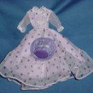 Lavender purple polka dot doll dress fashion doll outfit hat No. 117