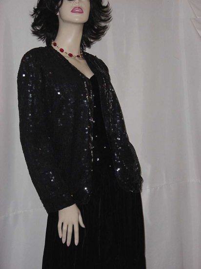 Jean Joseph Le Bon Sequin Jacket Beaded Sweater Party Cruise Silk Jacket no. 119