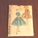 Vintage Simplicity pattern 1295  Size 8 Girls Dress 1950s  No. 119