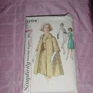 Simplicity Vintage Sewing Pattern 5194 One piece dress coat Size 12 Bust 32 No. 120
