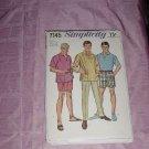 Vintage Uncut Simplicity Sewing Pattern 7145 Men's Shirt Pants Neck 16 Waist 38 No. 120