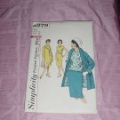 Simplicity Vintage Sewing Pattern 5279 walking suit blouse Miss size 12 bust 32  No. 120