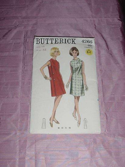 Butterick printed pattern 4266 A line dress size 12 Bust 32 Uncut No. 120