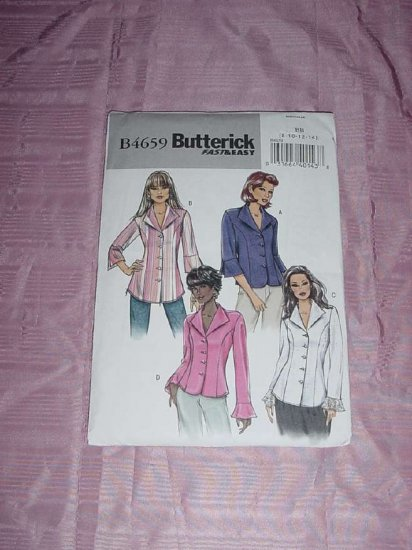 Butterick printed pattern 4659 Fast Easy Blouse size FF 16-18-20-22 Uncut No. 120