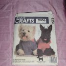 Uncut McCall's 9356 Dog sweatshirt t-shirt tuxedo lace collars raincoat detachable hood  No. 120