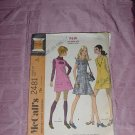 Uncut vtg McCall's  2481 Misses size 8 dress mini dress jumper  NO. 120