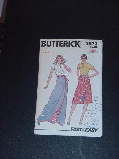Vintage  Pattern Butterick 3673