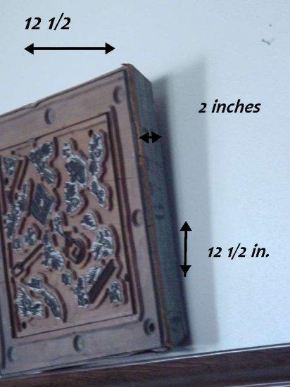 Vintage Print Block Wood Metal textile Block Stamp Horticulture Gardening Tools    No. 119