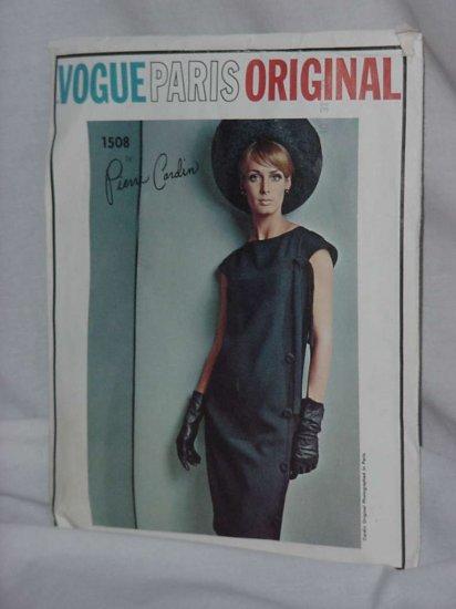 Vogue 1960s Pierre Cardin pattern Vintage 1508 Couturier Design Vogue Paris Original  No. 121